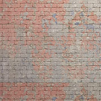 DORCEV 7x5ft Dirty Brick Wall Backdrop Vintage Old Retro Buliding Street Wall Photography Background Rustic Style Texture Brick Wall Children Adult Artistic Portrait Photo Studio Props Wallpaper