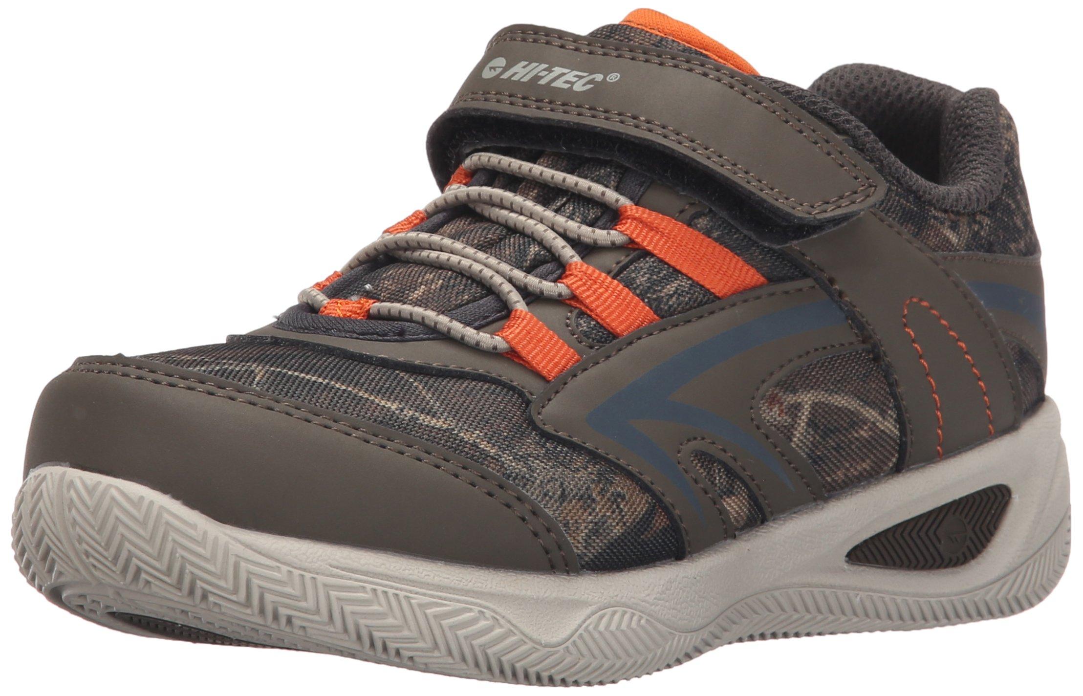 Hi-Tec Thunder JR Multi sport shoe (Little Kid/Big Kid), Olive/Camo/Burnt Orange, 10 M US Little Kid