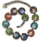 Sweet Romance Caterpillar Rainbow Collar Necklace