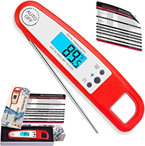 Instantaneous Digital BBQ Reading Meat, Food,Candy Thermometer/Probe Water-Resistant New Super Accurate