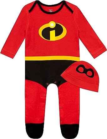 Disney Pijama Entera y Gorro para Niños Bebés The Incredibles