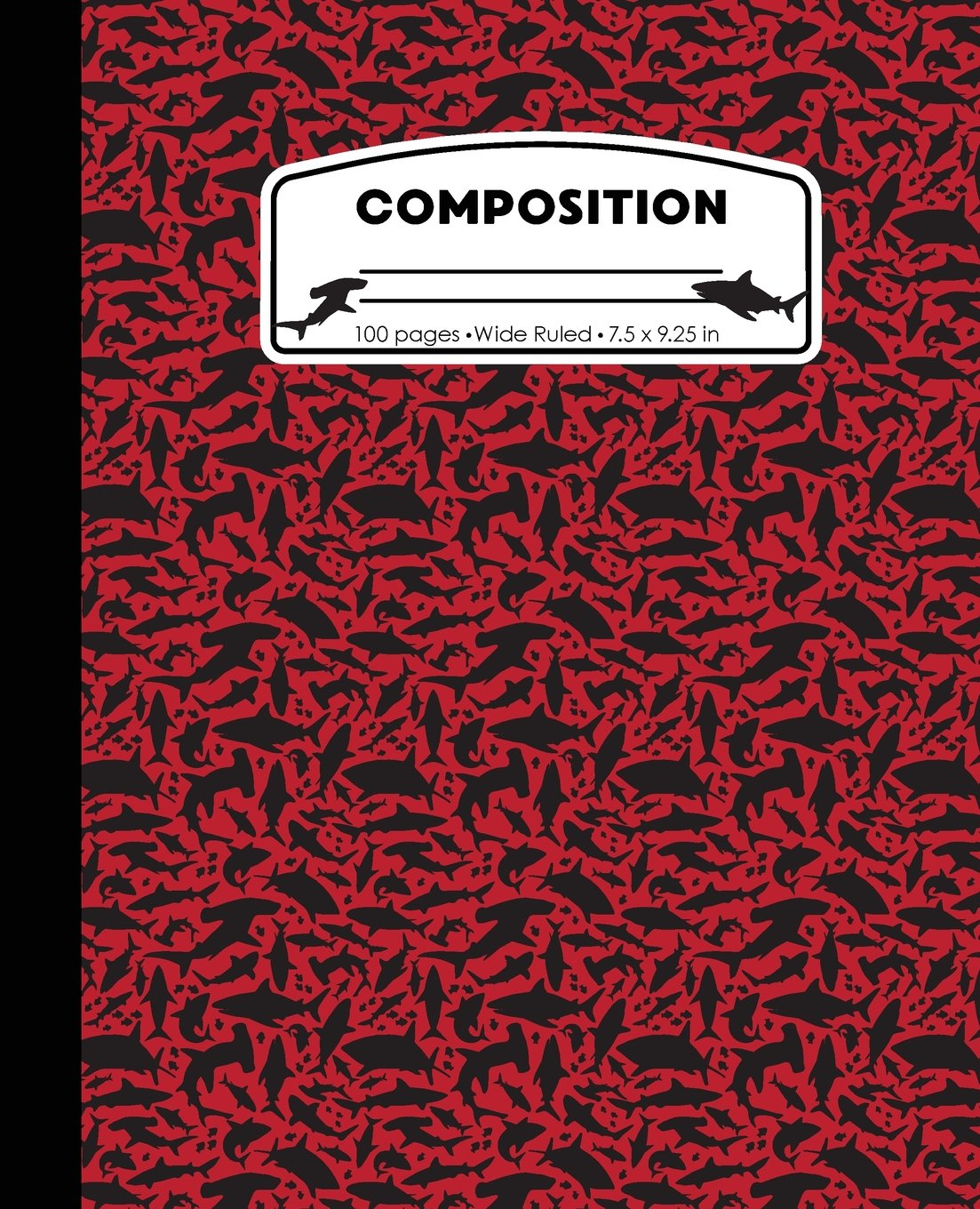Composition: Sharks Red Marble Composition Notebook Wide Ruled 7.5 x 9.25 in, 100 pages book for boys, kids, school, students and teachers (Shark Marble Composition Books) PDF ePub book