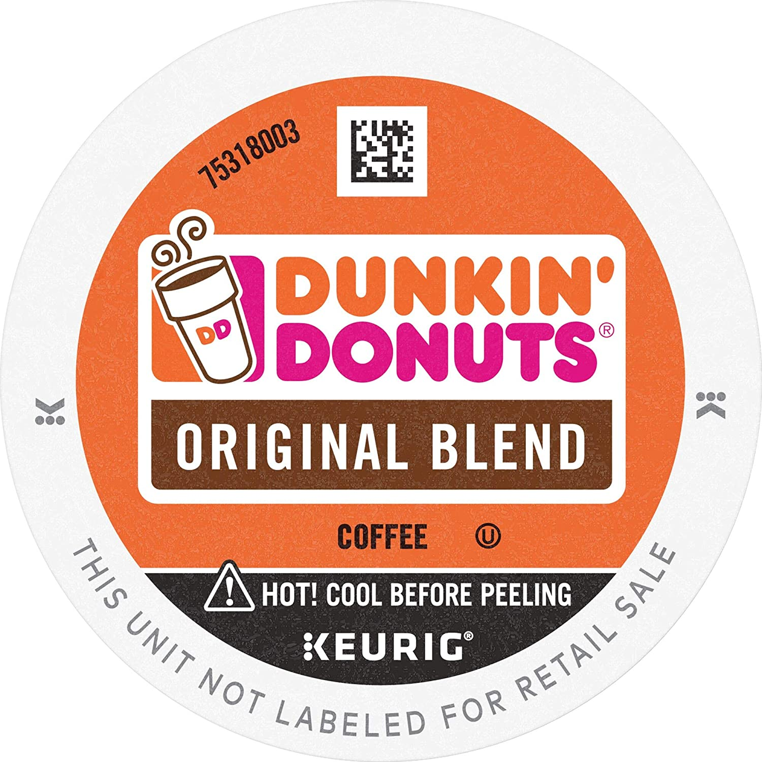 Dunkin' Donuts Original Blend Medium Roast Coffee, 88 K Cups for Keurig Coffee Makers