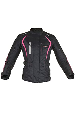 Oxford Products Chaqueta de Motorista, Negro/Rosa, 46 ...