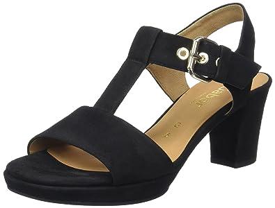 Gabor Shoes Damen Comfort Offene Sandalen , Schwarz (Schw.(Gold Absobl) ff8d37e7cd