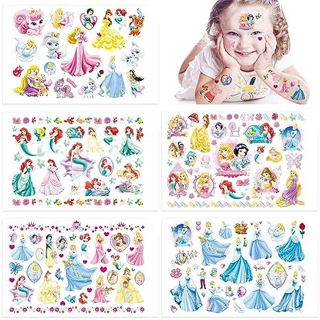 Qemsele Tatuajes Temporales Para Niños Niñas, 10 Sheets 200+ Pcs Hojas Dibujos animados Tatuaje Falso Pegatinas Para piñata Niños infantiles fiesta de ...