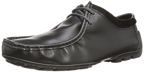 Hush Puppies Lenox Khullar - Botas de otra piel para hombre, Schwarzes Leder, 8 UK: Amazon.es: Zapatos y complementos