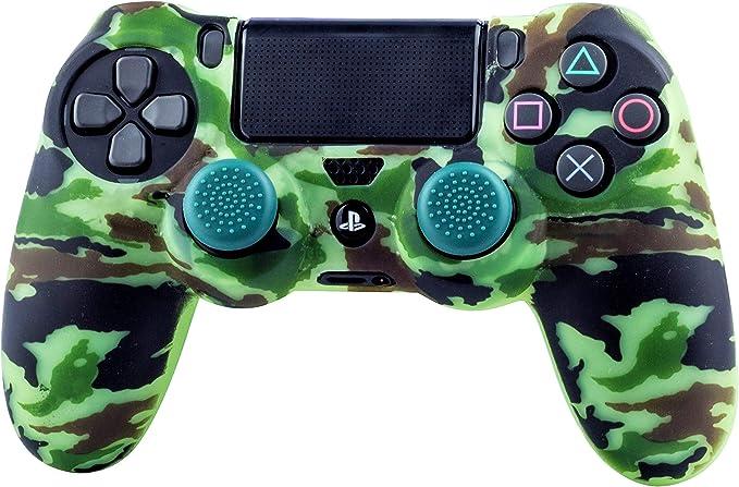 FR·TEC - Protector de Silicona Camo Woodland + Grips, para mando Dualshock de PlayStation 4: Amazon.es: Videojuegos