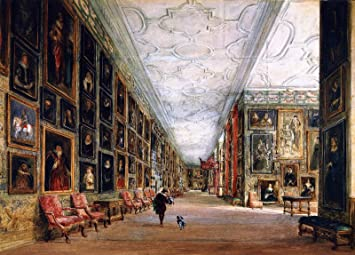 Amazoncom David Cox The Elder The Long Gallery Hardwick Hall