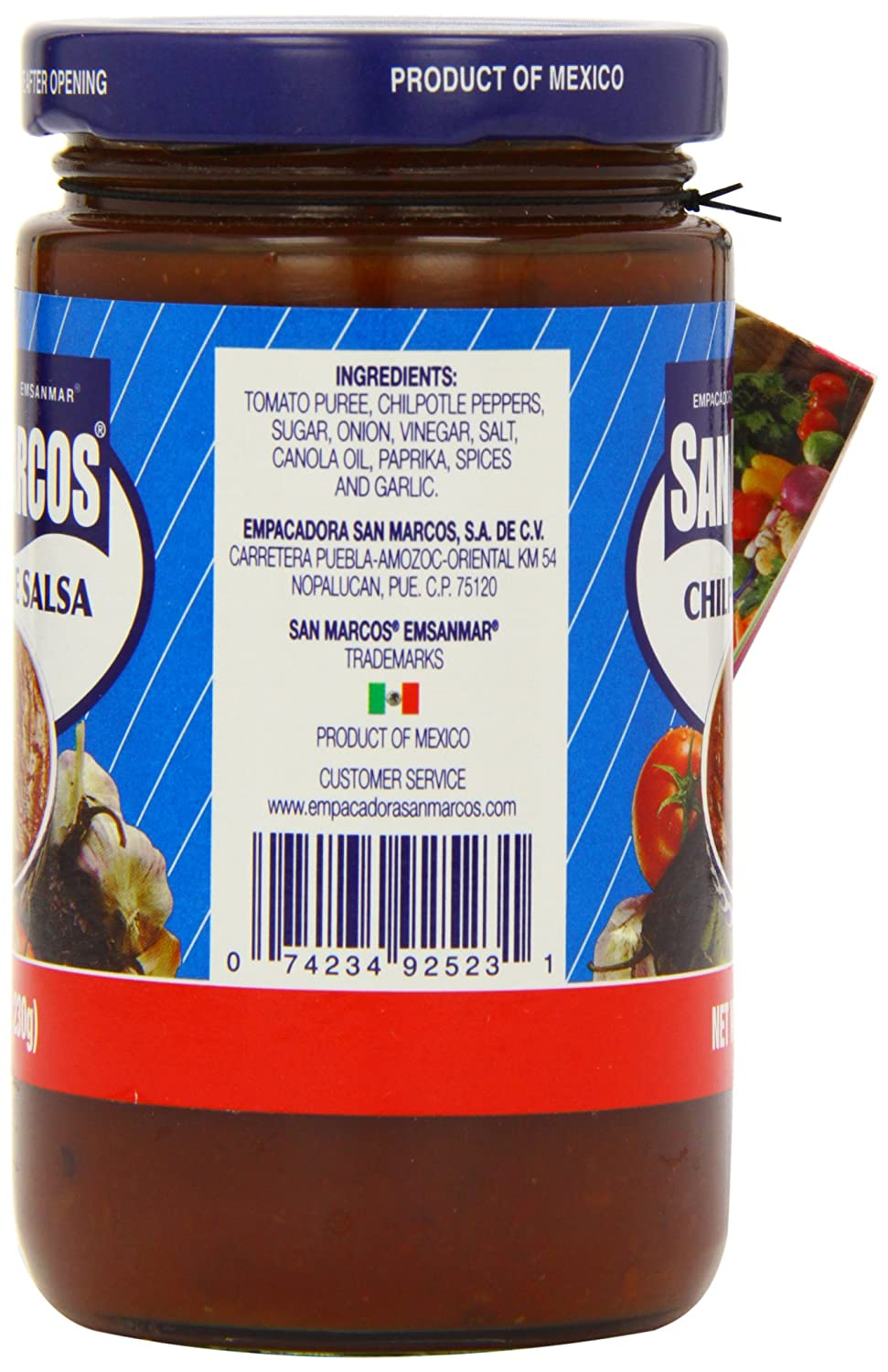 San Marcos Chilpotle Salsa 230 g (Pack of 4): Amazon.co.uk: Grocery