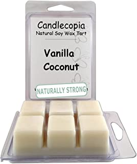 product image for Candlecopia Vanilla Coconut Strongly Scented Hand Poured Vegan Wax Melts, 12 Scented Wax Cubes, 6.4 Ounces in 2 x 6-Packs
