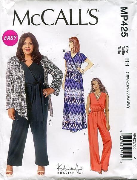Mccalls Khaliah Ali Sewing Pattern Mp425 M7135 Misseswomens Shrug
