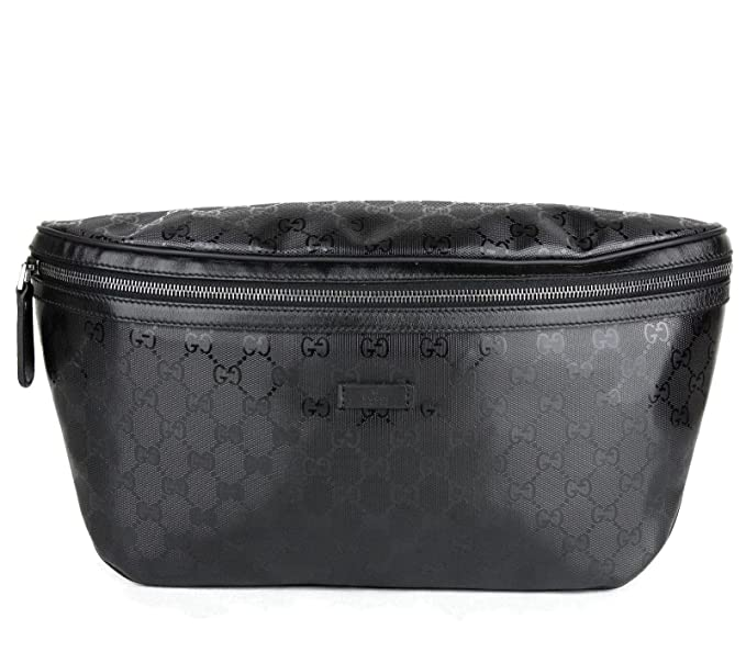 e16f591abae Gucci Men s Black GG Coated Canvas Imprime Belt Bag 211110 1000  Amazon.ca   Clothing   Accessories