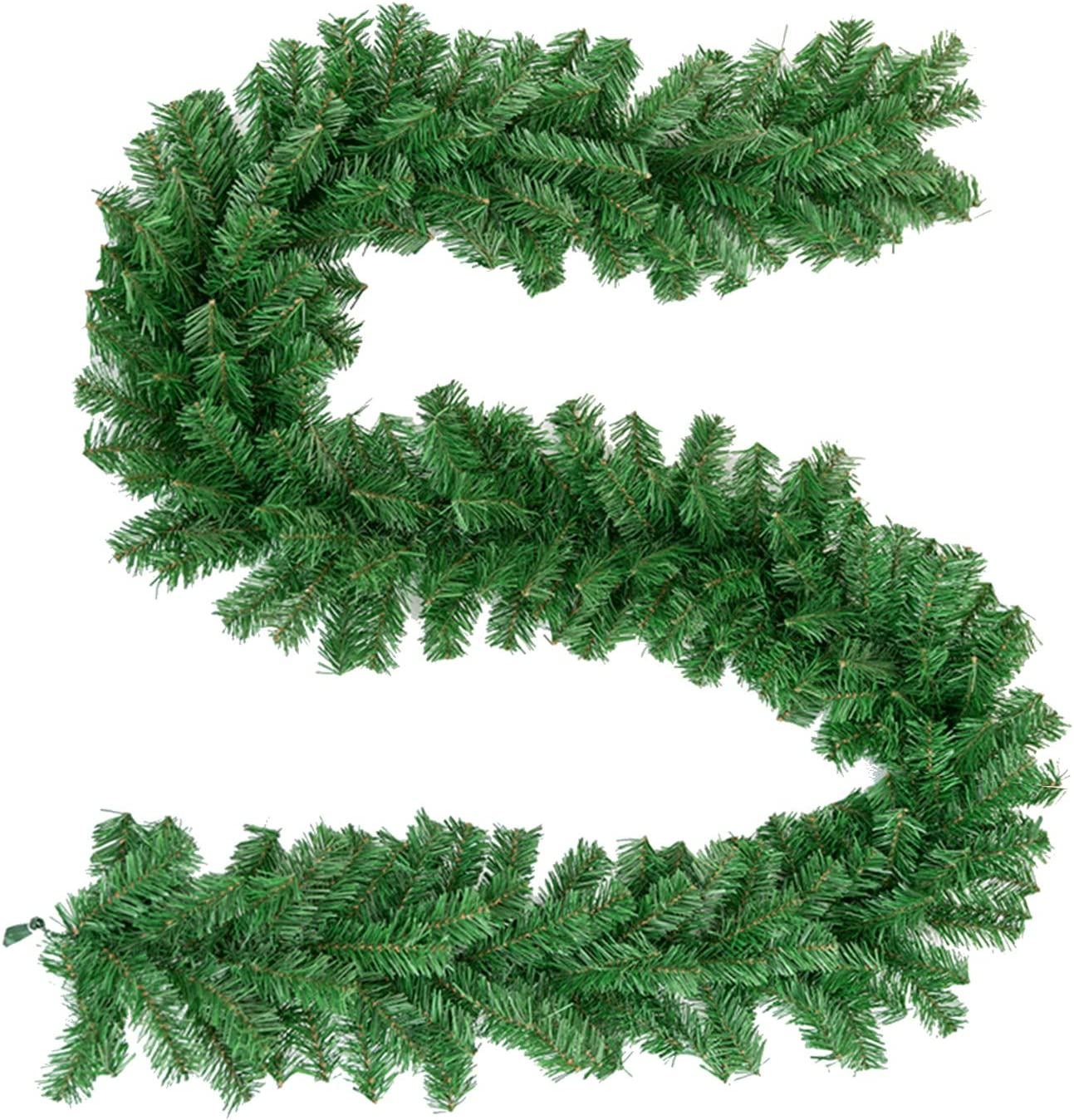 Oakmont Tree Artificial Spruce Christmas Garland 8.8 Foot Soft Green Holiday Decorations, Outdoor or Indoor Use, Wedding Party