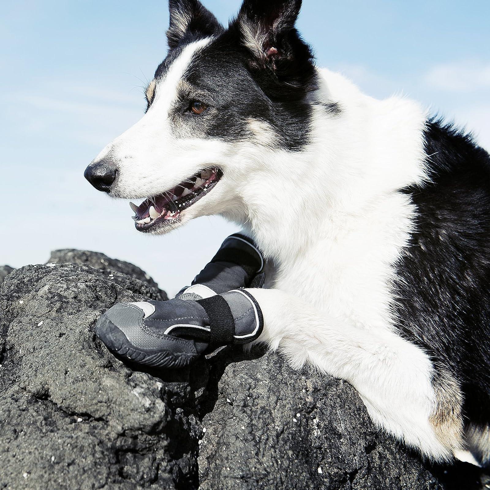 Hurtta Outback Dog Boots Granite 2 in 2 Pack HU932120 - 4