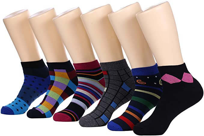 fc29df5f4d1f Marino Avenue Mens Ankle Socks - Funky Colorful Low Cut Sock For Men - Size  10