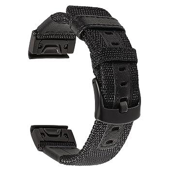 TRUMiRR Fenix 5X Correa de Reloj, 26mm de liberación rápida Reloj de ...
