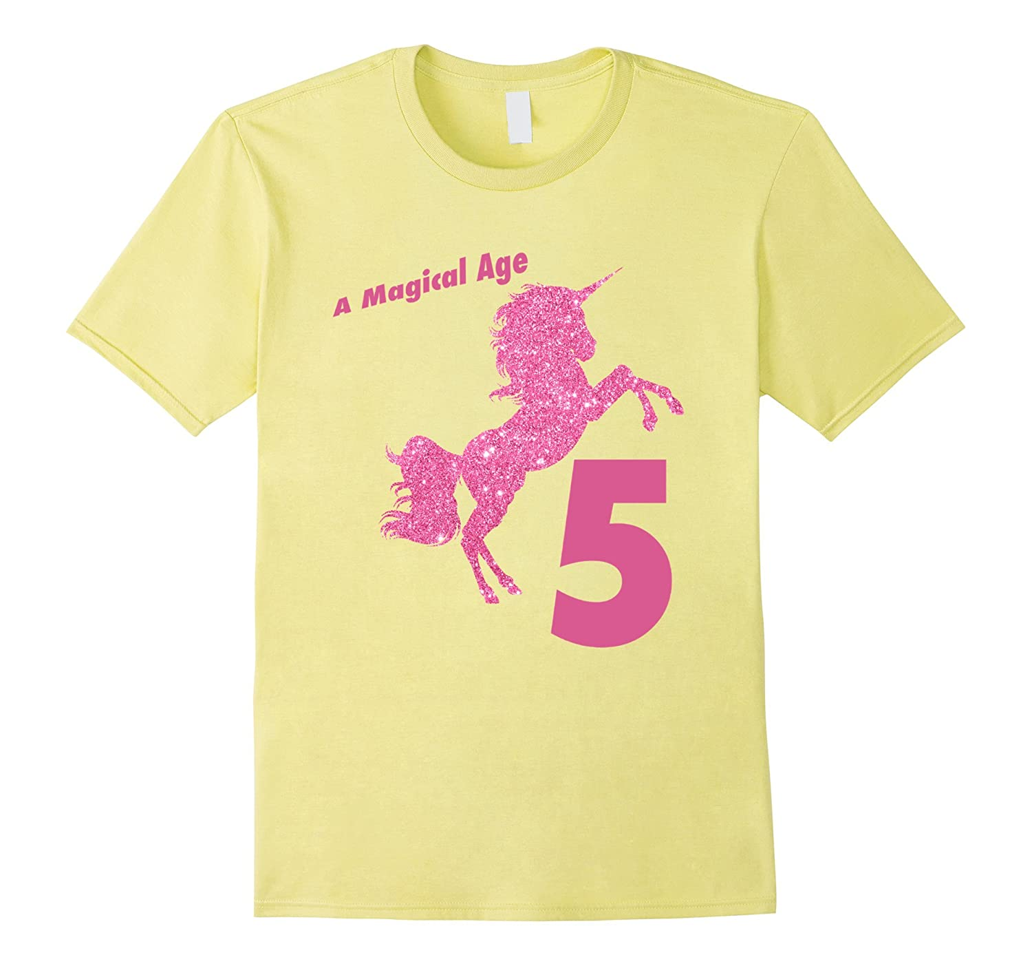 Kids 5th Birthday Unicorn Gift T Shirt For 5 Year Old Girls Vaci