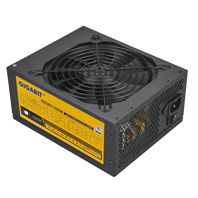 Power Supply 1300W Full Modular Power Supply 90 Gold For 6 GPU Rig Eth Ethereum Bitcoin Mining, GPU 6+2Pin, Miner's choice