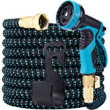 LOOHUU Garden Hose Expandable Kit 50 Feet,Water Hose with Superior Strength 3750D/10 Function Spray Nozzle/Resistant 3…