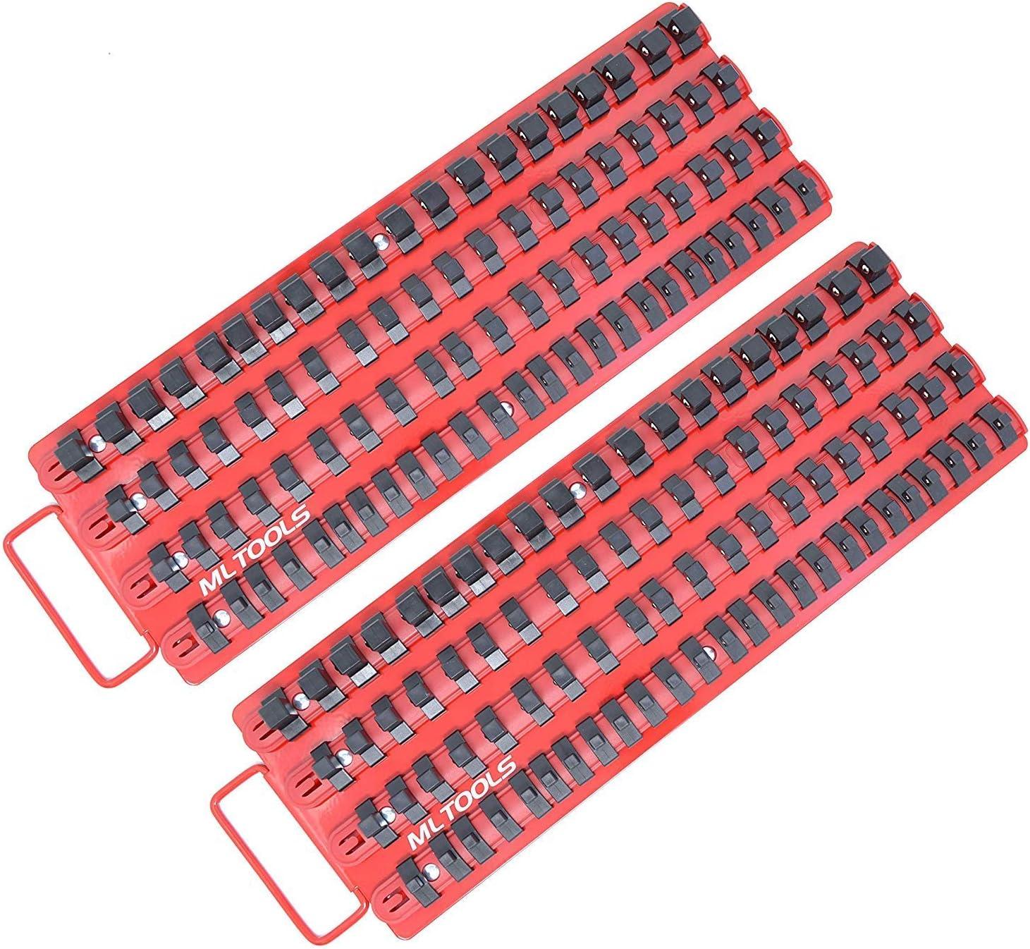 MLTOOLS Socket Organizer2 PackHolds 170 SocketsBall Bearing Clips