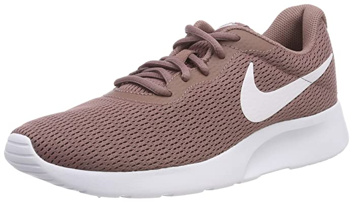 Nike Tanjun Damen Sneaker Laufschuhe Braun (Smokey Mauve) mit weißem Streifen