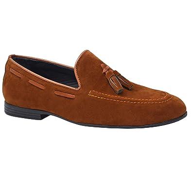 68c60c42622fc4 Chaussures à boucle pour homme en cuir noir - Marron - marron, ...