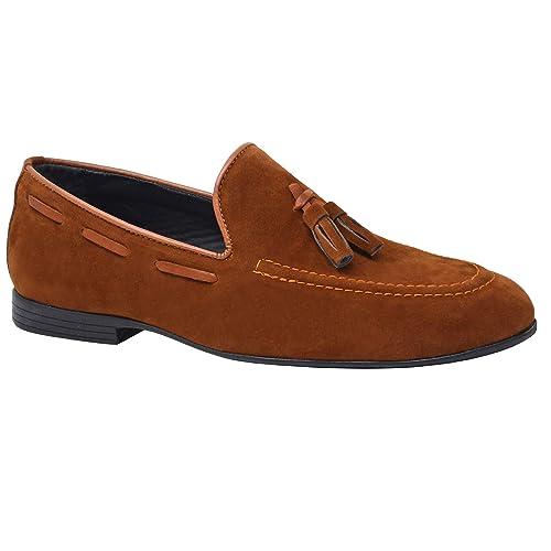 Zapatos de vestir para hombre, de piel, con hebilla, negros