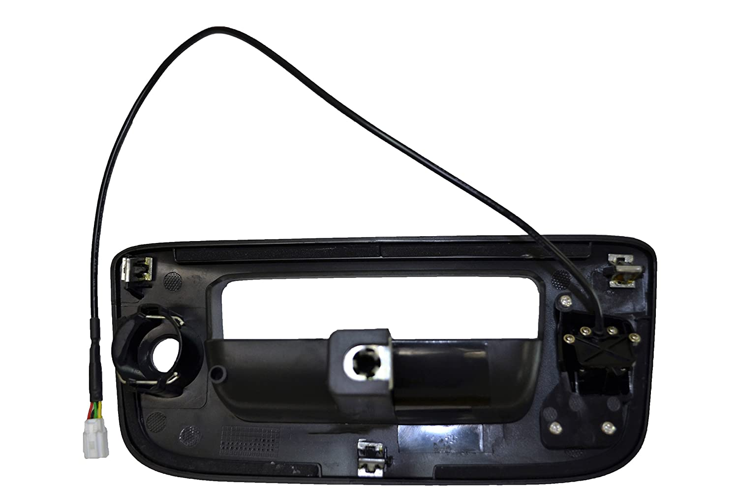 PT Auto Warehouse GM-3547A-BZCX Textured Black Tailgate Handle Bezel Trim Cover with Camera