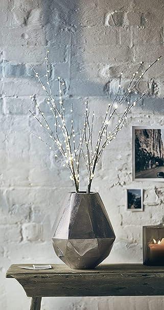 Weihnachtsdeko Aus Birke.Pureday Weihnachtsdeko Dekozweig Birke Led Beleuchtet Weiß