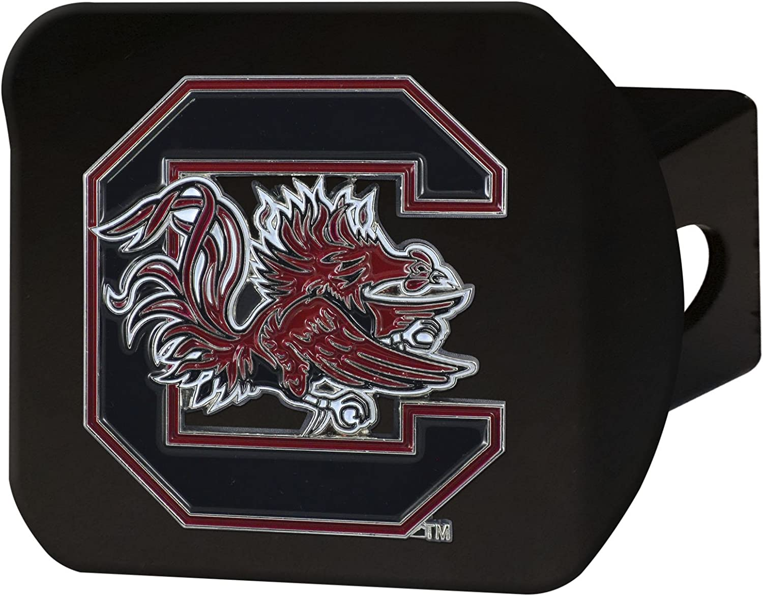 Black Team Color FANMATS NCAA South Carolina Fighting Gamecocks University of South Carolinacolor Hitch One Size