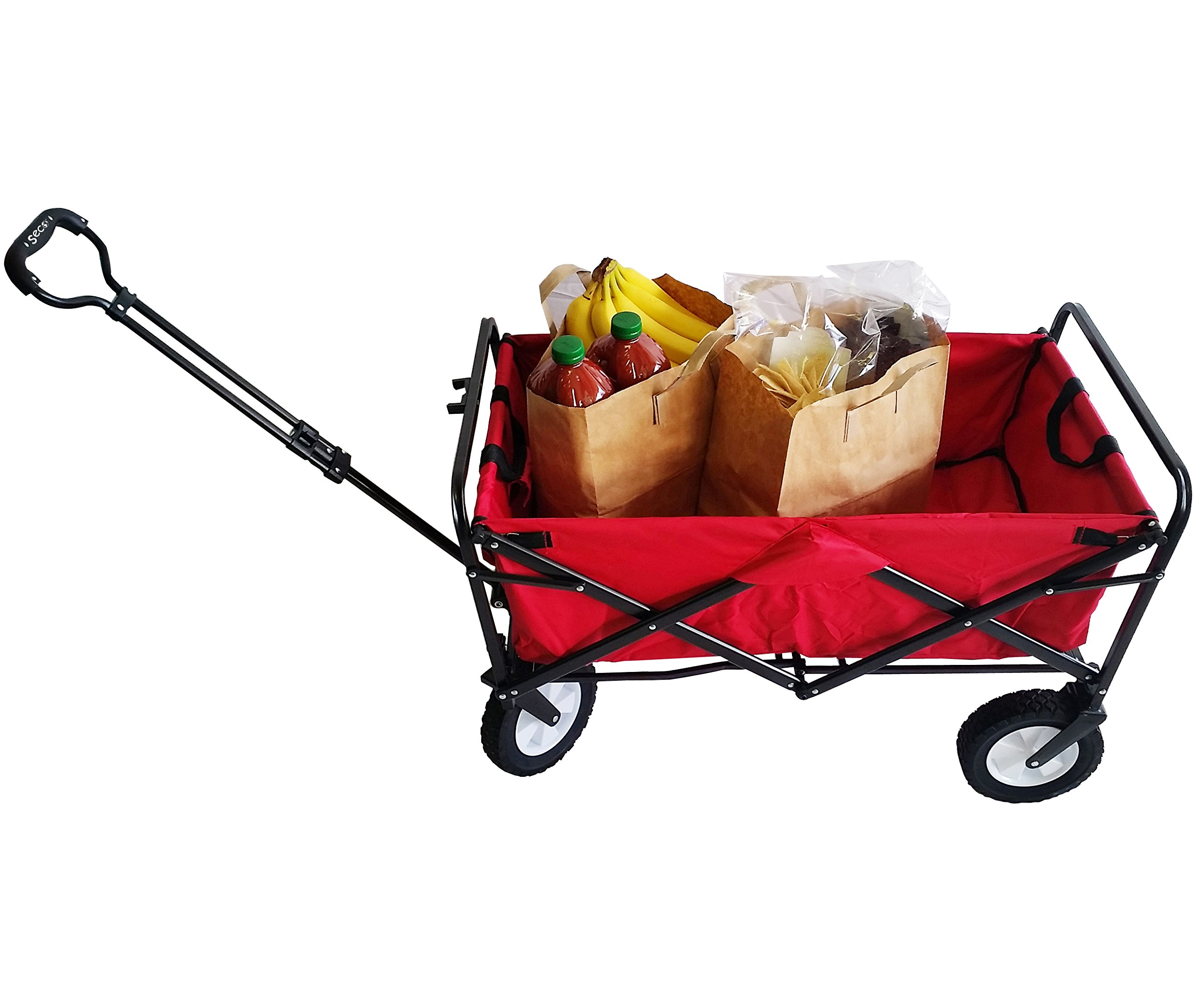 SSECO YZ8037 SECO Heavy Duty Folding Utility Wagon Garden Cart