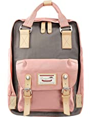 Laptop Backpack College Backpack School Bag Travel Backpack for Women, High School/College Student, Fits 13-15 inch Laptop (Pink)