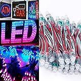 50PCS WS2811 RGB Full Color 12mm Pixels digital Addressable LED String DC 5V