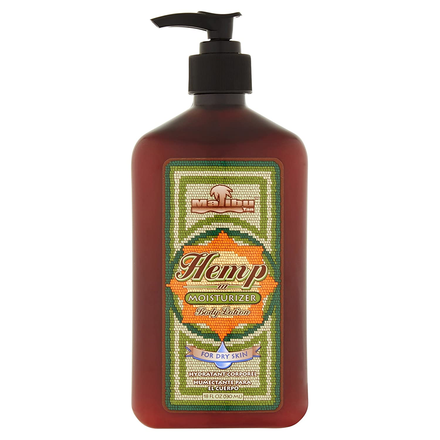 Malibu Tan For Dry Skin Hemp Body Lotion, 18 fl oz