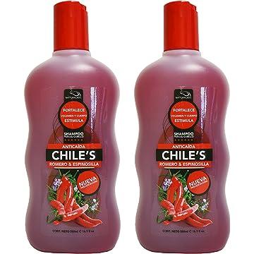 2 X Natturalabs Chili Rosemary Shampoo/Anticaida Chiles Romero & Espinosilla ...