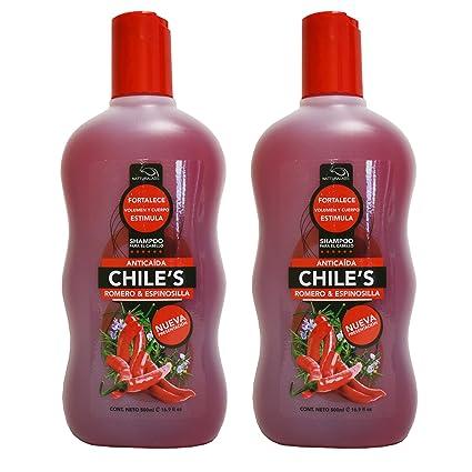 2 X Natturalabs Chili Rosemary Shampoo/Anticaida Chiles Romero & Espinosilla 16.9oz by Natturalabs