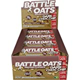 Battle Oats High Protein Gluten Free Flapjacks Protein Bar, New Low Sugar Formula, 12 x 70g - Dark Chocolate Chip
