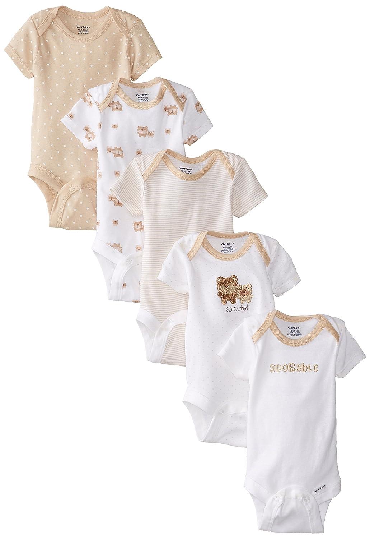 Gerber Unisex Baby 5 Pack Variety Onesie - Bears (Baby)
