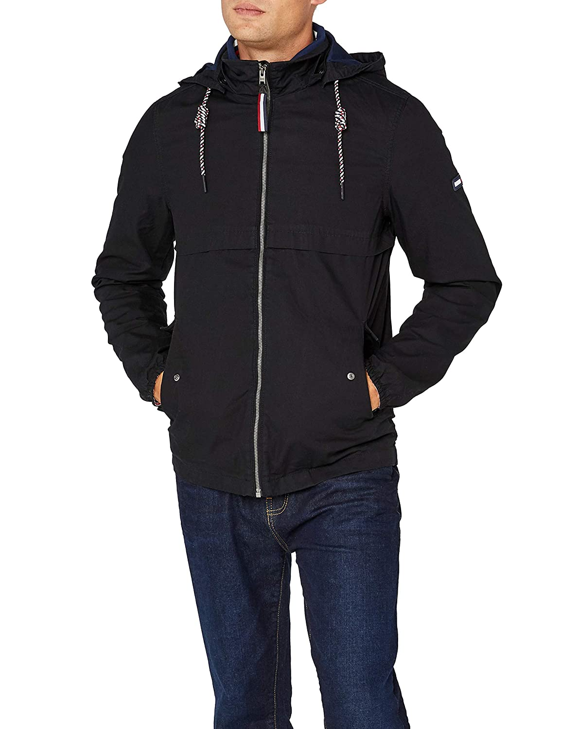 TALLA S. Tommy Jeans Hombre Essential Anorak Chaqueta