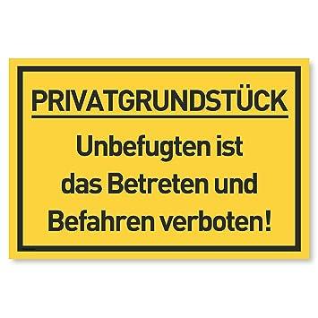 Cartel de Terreno Privado Prohibido Entrar y Conducir ...