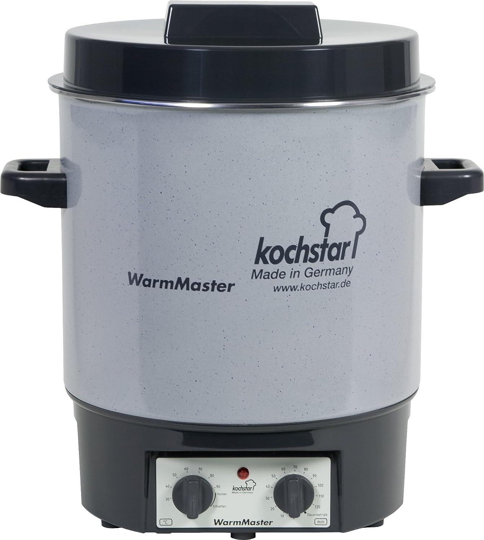 Kochstar K99102035 Stérilisateur Electrique Thermostat + Minuteur Email Gris 35 cm