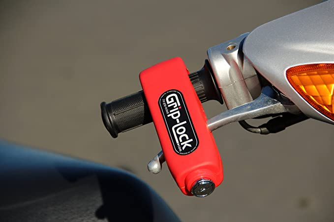 Grip-Lock Motorcycle and Scooter Security Lock - Yellow