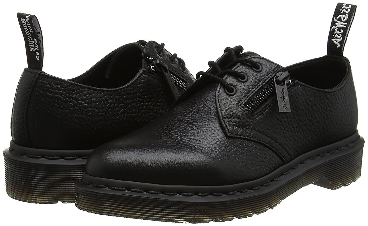 Dr. Martens B01IDSAMVW Women's 1461 W/Zip Oxford B01IDSAMVW Martens 3 UK/5 B US|Black 4a2d46