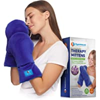 Microwavable Therapy Mittens with Flaxseed-Moist Heat Therapy Relief for Hands and Fingers in Cases of Stiff Joints, Trigger Finger, Inflammation, Raynaud's, Carpal Tunnel-Natural Aromatherapy Gloves
