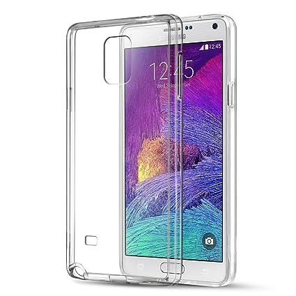 Galaxy Note 4 Funda, KKtick Cristal Claro Absorción TPU Parachoques Carcasa Case y Anti-Arañazos Flexible Transparente Funda protectora para Samsung ...