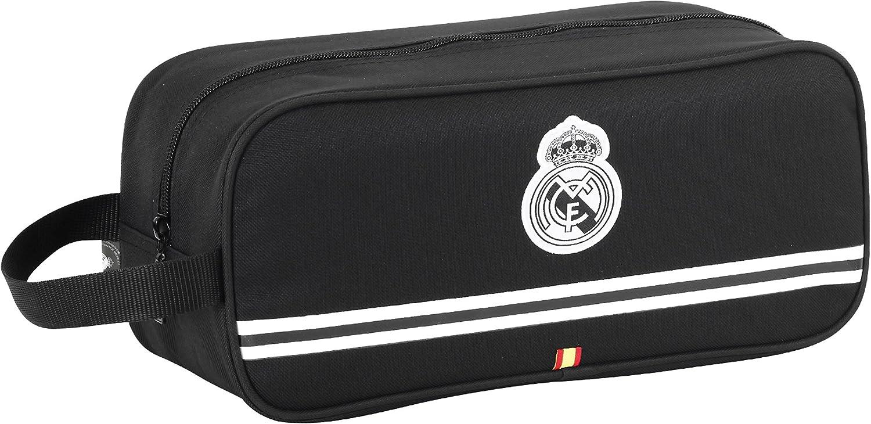 Real Madrid SAFTA 811524194 Sac /à Chaussures 34 x 15 x 14 cm Noir