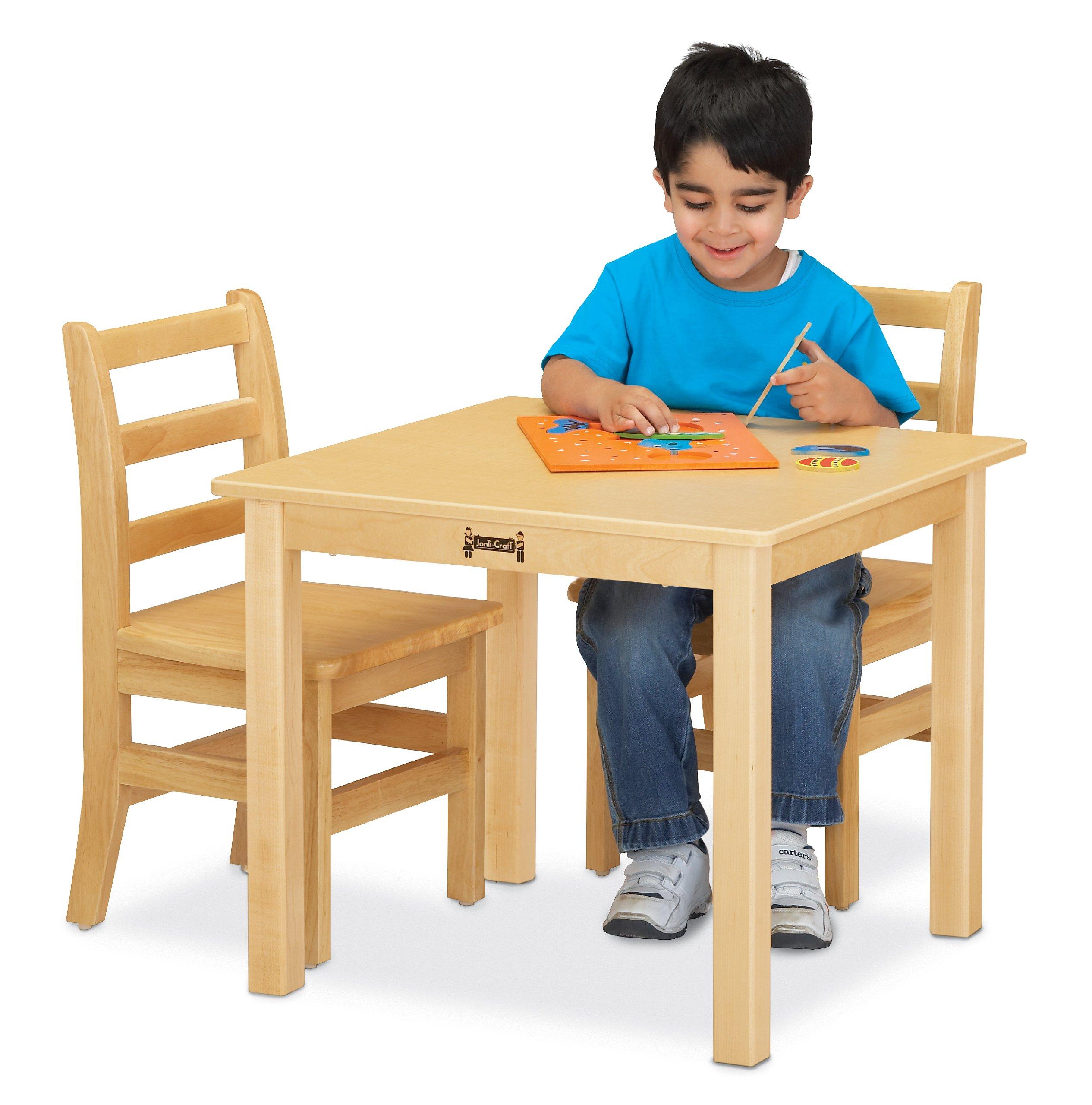 Jonti-Craft 57220JC Multi-Purpose Square Table, 20'' High, Maple