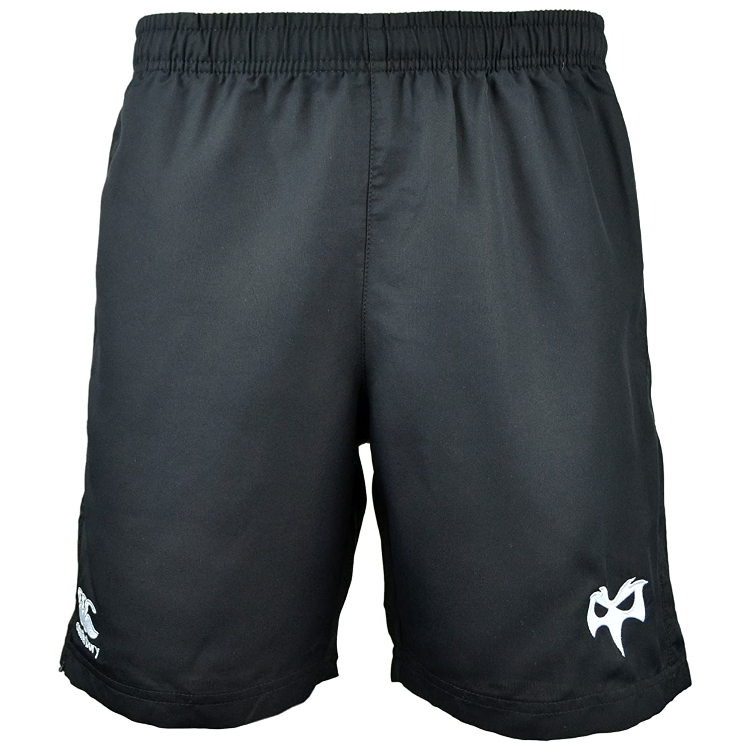 2017-2018 Ospreys Rugby Gym Shorts (Black) B0742RQ1G6 Large 36