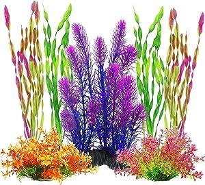 MyLifeUNIT Artificial Aquariums Plants Plastic Fish Tank Plants